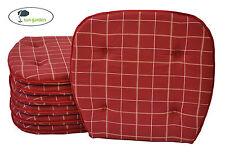 bis zu 300 Sitzkissen in rot 36 x 38 x 3 cm mit Bindeband Stuhlkissen Kissen