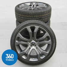 "NEW GENUINE RANGE ROVER SPORT 22"" STYLE 514 GREY ALLOY WHEELS TYRES TPMS"
