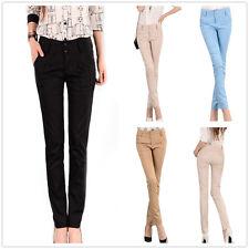 New Women ladies Full Length Casual Slim Skinny Fit  Pants Trousers  SIZE 6-14