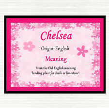 Chelsea Name Meaning Mouse Mat Pad Pink