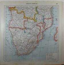 1929 ORIGINAL MAP ~ SOUTH AFRICA CAPE COLONY ANGOLA RHODESIA TANGANYIKA