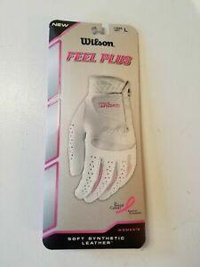 Wilson Feel Plus Womens Golf Glove Left Hand MEDIUM Club Grip Synthetic Leather