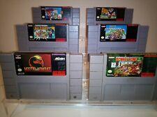 SNES Nintendo games Lot 6 Super Mario All Stars mortal Kombat Super Mario kart