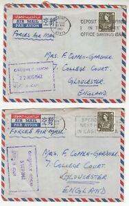 KUT: 3 QE2 Covers: 3rd Batt, Kings African Rifles to Gloucester, 1962-63
