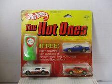 HOT WHEELS THE HOT ONES W/ FREE STAMPER 80'S FIREBIRD PORSCHE 911 CAMARO Z-28