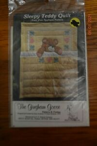 The Gingham Goose Sleepy Teddy Quilt Pattern Gwen Andrews 1979 Uncut
