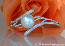 Armbänder mit Perlen-Sets aus Weißgold für Damen