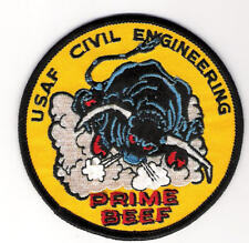 U.S. AIR FORCE PATCH - USAF CIVIL ENGINEERING PRIME BEEF PATCH