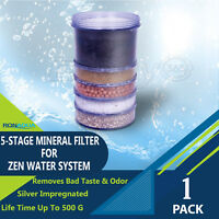 5-Stage Replacement Mineral Filter Cartridge for Zen Countertop & Water Coolers