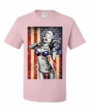 Marilyn Monroe US Flag T-Shirt Freedom Sexy Girl Tattoos Gangsta Tee Shirt