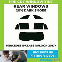 Pre Cut Window Tint - Mercedes E-Class 4-door Saloon 2017+ - 20% Dark Rear