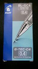 Pilot G-Tec C4 Microtip Roller Ball Pen, 0.4 mm Tip - Green, Box of 12