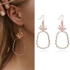 Gold Color Stud Earrings Girls Summer- Bobo Simple Hollow Fruit Pineapple Rose