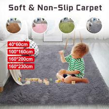 Shaggy Fluffy Rugs Anti-Skid Area Living Room Carpet Bedroom Floor Mat