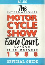 1988 11 - 16 OCT 36104  EARLS COURT INTERNATIONAL MOTOR CYCLE  SHOW GUIDE