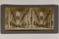 Italia Milan Cattedrale Duomo Interno Foto Stereo Vintage Citrato c1900