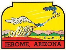 Jerome Arizona Route 66  AZ    Vintage Style Travel Decal Sticker Luggage Label