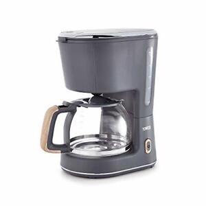 Tower Scandi, 10-Cup Filter Coffee Machine, Keep-Warm Function, 900W, Grey