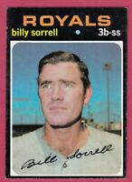 1971 Topps Baseball #17 - Billy Sorrell - Kansas City Royals
