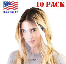 10 Pack Safety Face Shield Reusable with Glasses Eye Protection