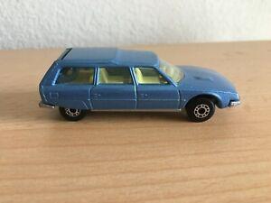 Vintage Matchbox Superfast N0.12 1979 Blue Citroen CX