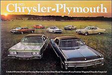 1973 Plymouth Color Sales Catalog 73 Barracuda Cuda Valiant Duster Scamp Cricket