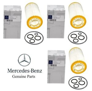 For Mercedes W163 W203 W204 W211 W220 W463 Set of 3 Engine Oil Filter Kits OES