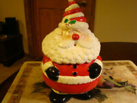 Santa Claus Christmas Ceramic Cookie Jar 10 In. Free Shipping Merry Christmas!!