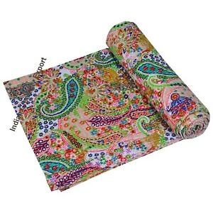 Baby Quilt Handmade Throw Reversible Blanket Bedspread Bohemian quilt bedding