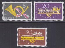 Switzerland 1949 MNH Mi 519-521 Sc 325-327 Post Horn,Mail Coach,Post bus.