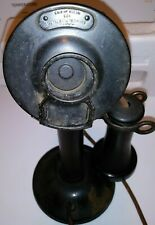 ANTIQUE 323 AMERICAN TEL CO. ELECTRIC CANDLE STICK TELEPHONE