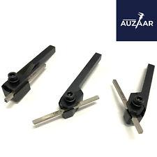 Mini Lathe Parting Cut Off Tool Holder Shank 516 With 18 M2 Hss Bit Set Of 3
