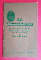 Festschrift + Programm 1928 20. Verbandstagung Korbmacher in Aue Erzg. ( F16301