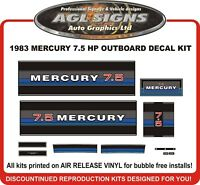 1983  MERCURY 7.5 hp  Outboard decal set reproductions  9.8 HP also available