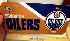 Edmonton Oilers NHL hockey team 12 x 6 Plastic License Plate, made in the USA