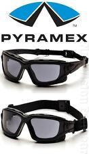 Pyramex I Force SLIM Smoke Gray Dual Anti Fog Lenses Safety Glasses Goggles Z87+
