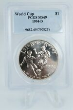 1994-D PCGS MS69 World Cup Modern Commemorative Silver Dollar Business Strike $1