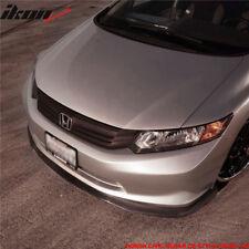 Fits 12 Only Honda Civic Sedan CS2 Style Front Bumper Lip Splitter Chin Spoiler