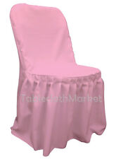 Chair Covers PLEATED polyester Wedding Party Decorations Folding Chair 24 colors