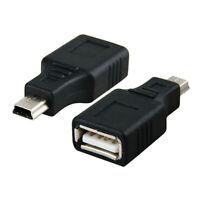 USB 2.0 OTG F/M A Female to Mini USB B 5 Pin Male Adapter Converter MP3 Charger