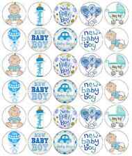 New Baby Boy Cupcake Toppers Fairy Cakes Party Christening BUY 2 GET 3RD FREE!
