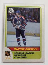 1986-87 O-Pee-Chee WAYNE GRETZKY SCORING LEADERS