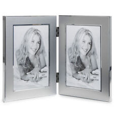 VonHaus Silver Double Portrait Multi Picture Hinged Photo Frame With 2