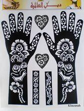 1x HENNA STENCIL, Mehandi Tattoo, Body Art DESIGN SHEET