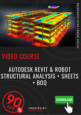 Autodesk Revit & Robot Structural Analysis + Sheets + BOQ Video Training