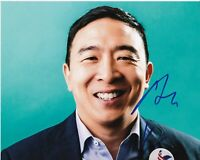 ANDREW YANG 2020 PRESIDENTIAL CANDIDATE SIGNED 8x10 PHOTO C MATH w/EXACT PROOF