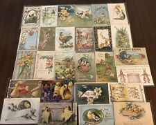 Lot of 25 Easter Holiday~Vintage~Postcards with Chicks~Bunnies~Flowers-b914