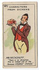 Hunt Cropp Vedast Characters From Dickens Trade Card #1 Mr Pecksniff End Number