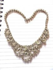 STUNNING  LARGE FULL CRYSTAL SET SPARKLY COLLAR / NECKLET PROM PARTY XL408A-9