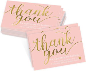 50/200Pcs Thank You For Supporting My Small Business 5x9CM Small Business Cards